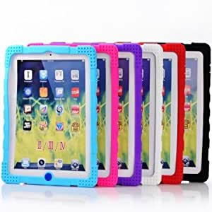 Stylish Colorful Anti-skid Silicone Case Cover For iPad 2 3 4 --- Color:Black