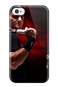 Durable Defender Case For Iphone 4/4s Tpu Cover(roger Federer)