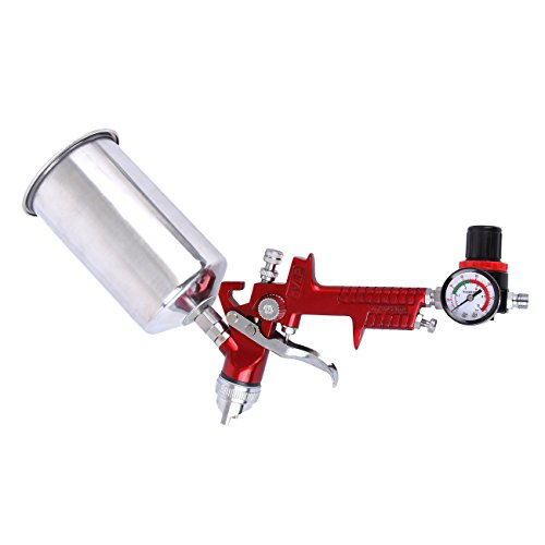 HH Limited HVLP Spray Gun Set - 3 Sprayguns with Cups Auto Paint Air Regulator & Kit Basecoat Car Primer Clearcoat by HH Limited (Image #5)