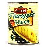 Gefen Pineapple Slices In 100% Pineapple Juice 20 Oz. Pack Of 3.