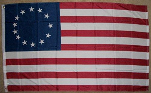 onebasispoint Brand Betsy Ross Flag USA 13 Stars 3x5 Feet 10
