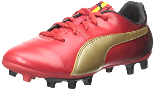 Puma Cesc V2 FG Jr Fibra sintética Zapatos Deportivos High Risk Red-Tm Gold-Black