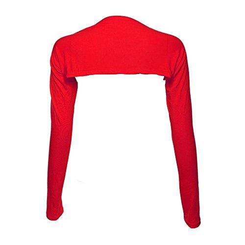 Weixinbuy Muslim Arm Cover Shrug Bolero One Piece Sleeves Tops Red ()