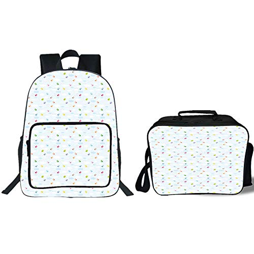"iPrint 19"" School Backpack & Lunch Bag Bundle,Baby,Colorful"