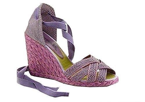 CASTELLER Sandalette - Sandalias de Vestir de tela Mujer Morado - Violet - Flieder
