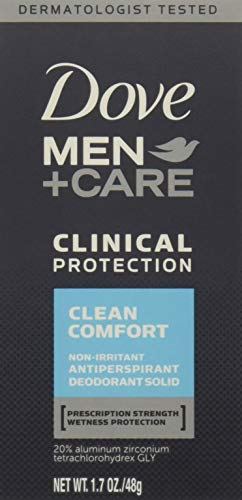 Dove Men + Care Clinical Protection Antiperspirant Deodorant Solid Clean Comfort 1.70 oz (Pack of - Comfort Antiperspirant Deodorant