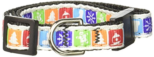 Mirage Pet Products Classic Christmas Nylon Ribbon Collar for Dogs, Cat Safety