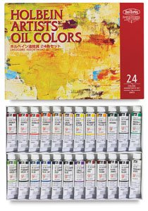 Holbein Artists' Oil Colors - Set of 24 Colors, in 10 ml Tubes
