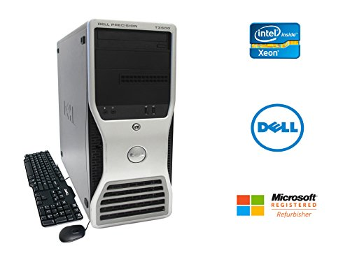 Dell Precision T3500 Desktop Workstation Intel Xeon Quad Core 2.93GHz 16GB RAM 1TB Hard Drive NVIDIA Quadro Graphics CD/DVDRW Windows 10 Pro 64-bit (Dell Compact Desktop)