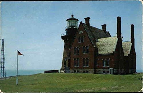 Southeast Lighthouse Block island, Rhode Island Original Vintage Postcard