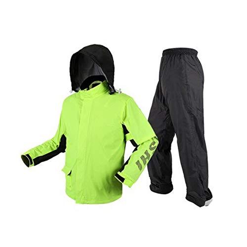 Vert fluorescent XL WSWJJXB Pantalon de Pluie imperméable Costume Split imperméable imperméable