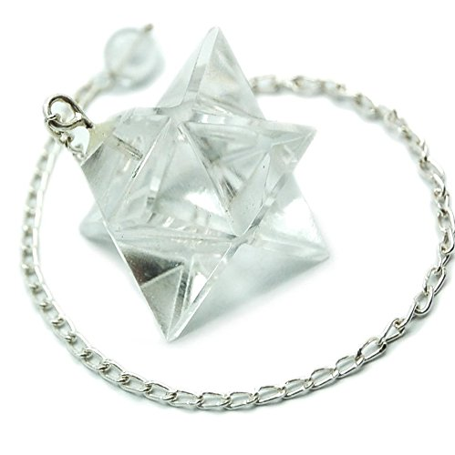 - Clear Quartz Merkaba Dowsing Pendulum. Good for Reiki and Crystal Healing