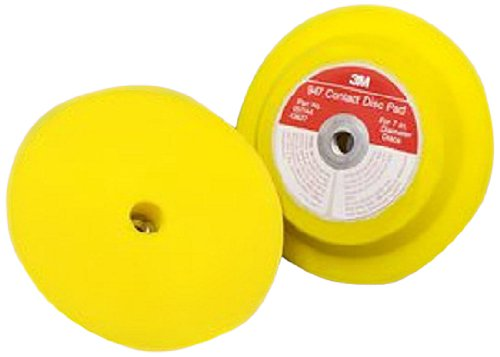 3M(TM) Hookit(TM) Disc Pad Holder 947, Hook and Loop Attachment, 7'' Diameter x 1'' Thick, 5/8''-11 Internal Thread, Yellow (Pack of 1)