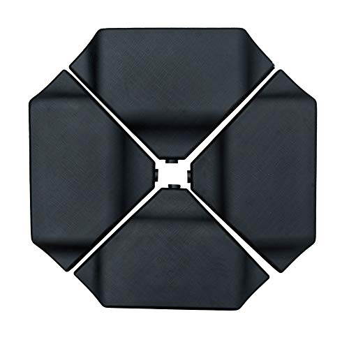 Abba Patio Cantilever Offset Umbrella Base Plate Set Heavy Duty Weights 260lbs, Pack of 4, Black (Patio Sets Cheap With Umbrella)