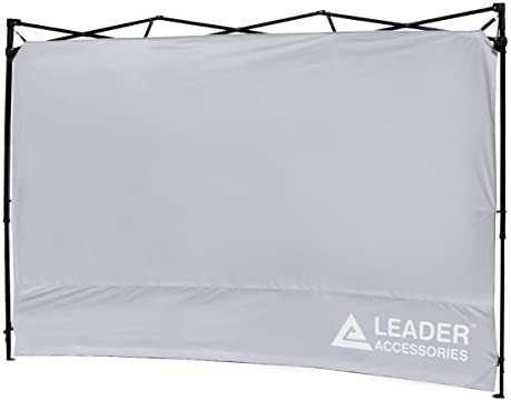 Leader Accessories Instant Canopy SunWall Side Wall for 10×10 Feet, 10×20 Feet Straight Leg pop up Canopy, 1 Pack Side Wall Only, Silver