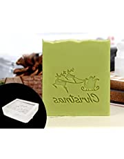 Exquisite Acrylic Transparent Soap Stamp, Handmade Aesthetic Soap Making Stamp Decorative Christmas Series Pattern Stamp