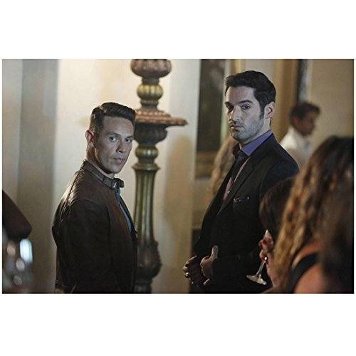 Tom Ellis 8 Inch x 10 Inch Photograph Lucifer (TV Series 2015 - ) w/Kevin Alejandro Both Looking in Same Direction kn
