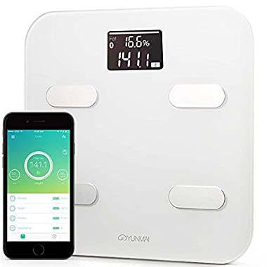 Yunmai Smart Scale - Body Fat Scale with Fitness APP & Body Composition Monitor with Extra Large Display