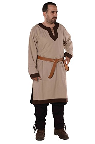 byCalvina - Calvina Costumes Calvina Costumes Arthur Medieval, Viking, LARP and Renaissance Tunic by Formen - Made in Turkey, -