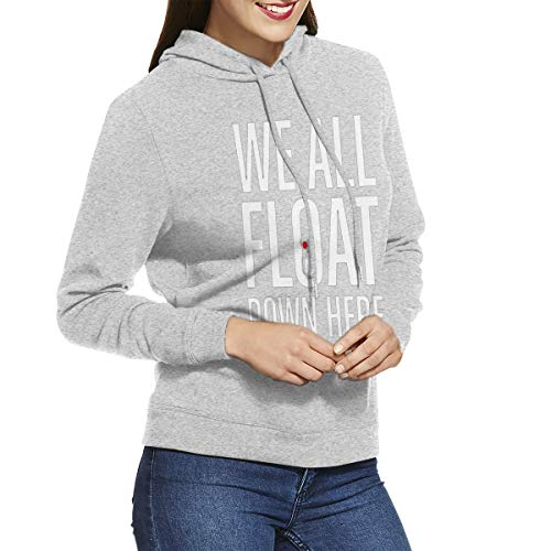 We All Float Down Here Womens Long Sleeve Pullover Hoodie Sweatshirts Gray