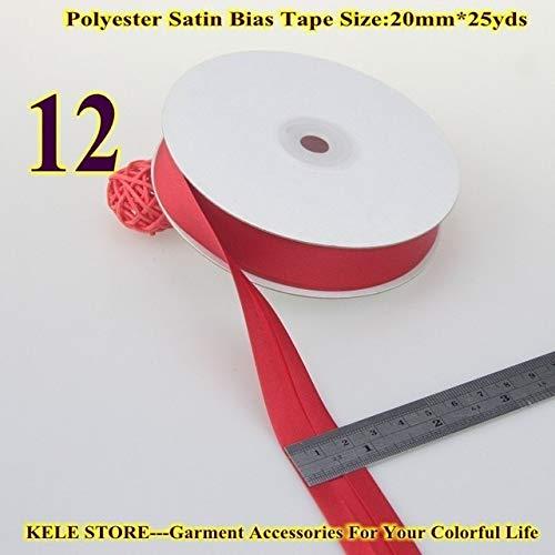 DalaB -Polyester Satin Bias Binding Tape,bias Binding Size:20mm,3/4