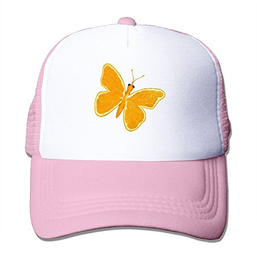 LINNA Orange Butterfly Cotton Hats Rowing Snapback Hat For Outdoor Sports Pink