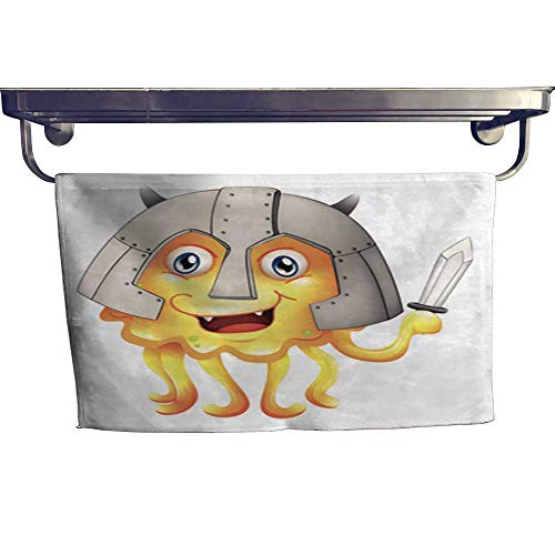 - warmfamily Beach Towels Monster with Sword and a Helmet Towel W 20
