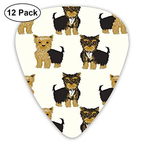 - LiuYiFeii Yorkshire Terrier Cute Yorkie Dog Pet 12pcs Guitar Picks Rock Band Mix Guitar Picks Musical Accessories,Rock Band Guitar Picks