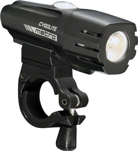 Cygolite Metro 500 USB Rechargeable Bike Light, Powerful 500 Lumen Bicycle Headlight for Road Cycling and Commuters, 6 Different Lighting Modes for Day and Night ()