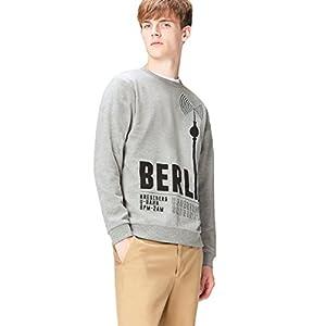 Amazon Brand – find. Men's Berlin Print Crew Neck Sweatshirt