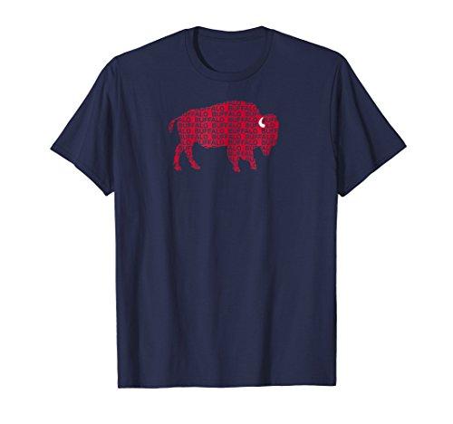 WHEREABOUTS Red Buffalo NY Football T-Shirt (Buffalo Shop Buffalo, Ny)