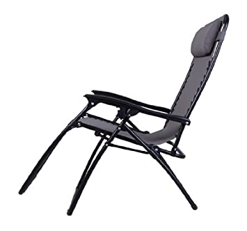 Outsunny Zero Gravity Recliner Lounge Patio Pool Chair, Gray