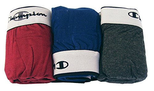 Champion Men's 3Pk Knit Boxers, Green/Red/Blue, X-Large