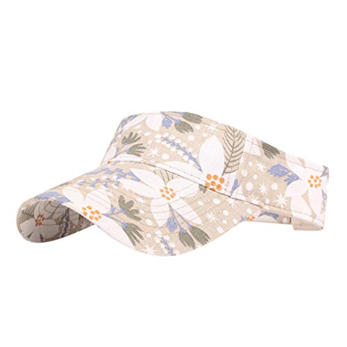 OSTELY Women's Sun Hat Print Summer Beach Hat Bucket Cap Fisherman Sunscreen Visor Flat Cap(Yellow)