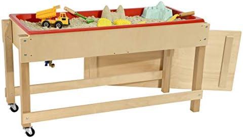 Wood Designs Mesa de arena y agua con tapa/estante: Amazon.es ...