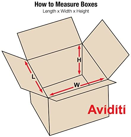 Aviditi HD202012 Heavy-Duty Single Wall Corrugated Cardboard Box 20 L x 20 W x 12 H for Shipping Packing and Moving Kraft Pack of 10