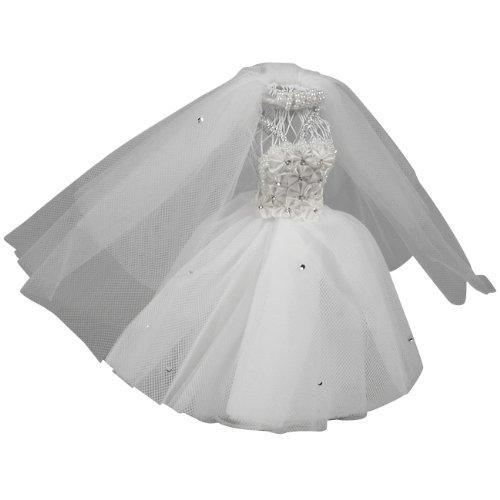 Ivy Lane Design Small Floral Dress Form, White (Bridal Miniatures)
