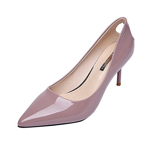 T&Mates Women's Fashion Low Cut Slip-on Pointed Toe Stiletto Pumps
