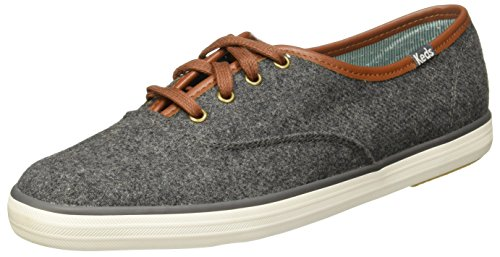 Keds Women's Champion Wool Fashion Sneaker, Charcoal, 6 M US
