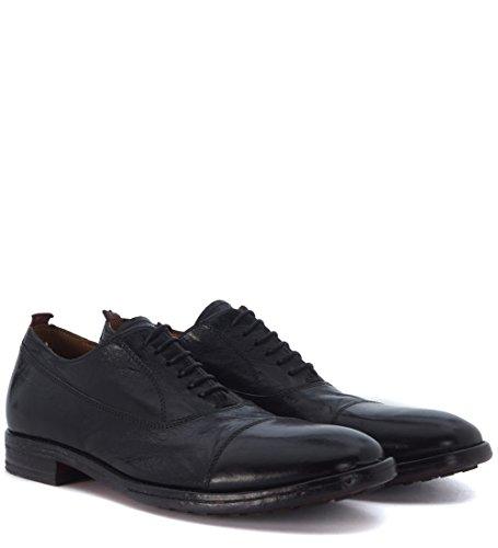 Zapato con cordones Moma en piel negra con punta canguro Negro