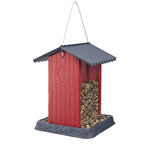 (North States 061106 Shed Birdfeeder, Red)