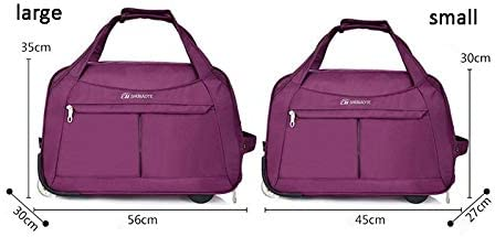 Minmin-lgx Fashion Travel Bag Trolley Bag Female Collapsible Casual Hand Luggage Bag Boarding Bag Male Trolley Bag Color : Red, Size : S