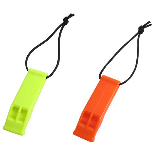 Scuba Choice Scuba Diving Safety Whistle with Lanyard, Yellow