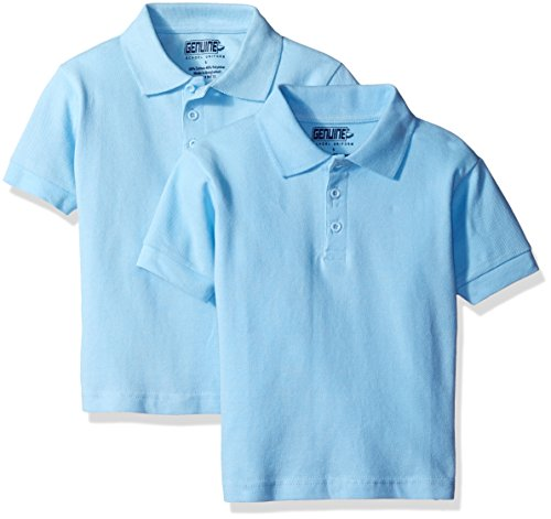 Genuine Little Boys' 2 Pack Polo Shirt, Light Blue-PLHF, 7 by Genuine