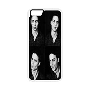 IPhone 6 Case, Protection Cute Johnny Depp Making Faces, Possibly in a Very Fancy Photobooth. Case for IPhone 6 {White}