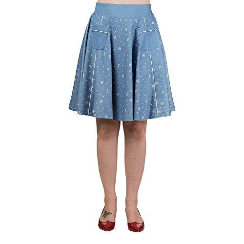 Banned-Womens-Sweet-Talker-Flare-Skirt
