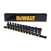"DEWALT 12-Piece Impact 3/8"" Drive Universal SAE Set"