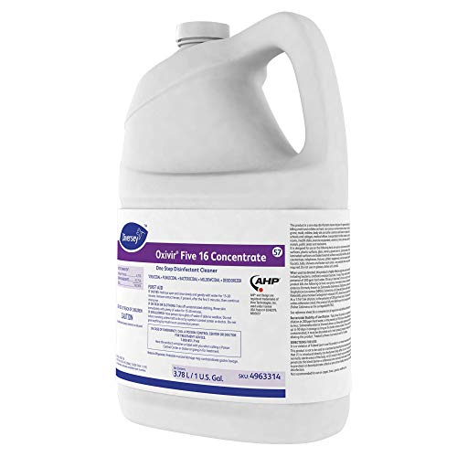 Diversey Oxivir Five 16 Concentrate One-Step Premium Disinfectant Cleaner, 1 Gallon Bottle, 4 Bottle Value Pack by Diversey (Image #4)