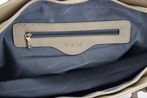 cuir A4 Melissa Shopper Stone main Femmes sac 1 étudier Sac travailler pour Saffiano femme simili à main à amp; Vanessa 1WPRxOBx