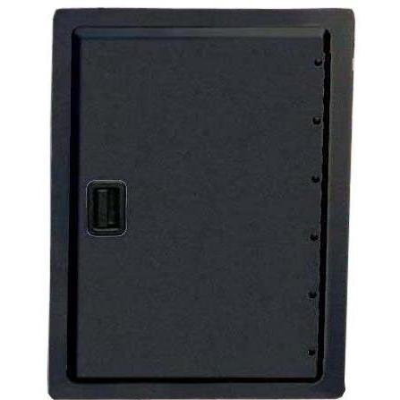 12 Single Black Door Access (Fire Magic Legacy 12 Inch Black Single Access Door - Vertical)